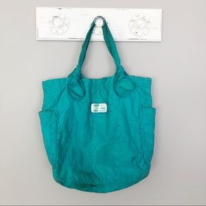 Marc by Marc Jacobs Teal Quilted Nylon Tote Bag